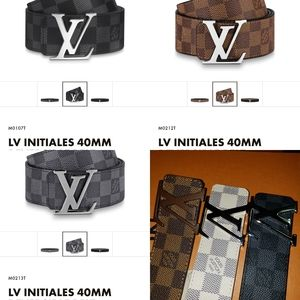 Louis Vuitton Accessories - Louis Vuitton Damier Azur Belt